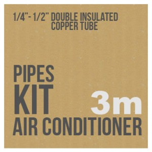 """Air conditioner pipe kit 1/4"""" - 1/2"""" 3 meters rolls"""