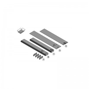 Sealing kit for 3-directional or 2-direction air discharge for BYFQ60C- BDBHQ44C60